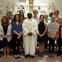 Easter Vigil, New members of the Church and their sponsors